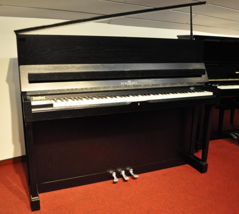 klavier schimmel 118 t kaufen schimmel eiche schwarz matt chrom pianova. Black Bedroom Furniture Sets. Home Design Ideas