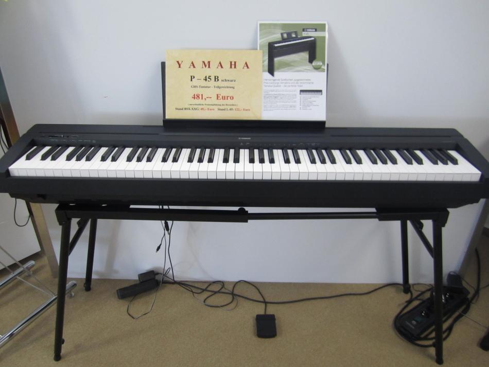 Digitalklavier yamaha p45b kaufen p 45 portable piano for Yamaha p45b keyboard